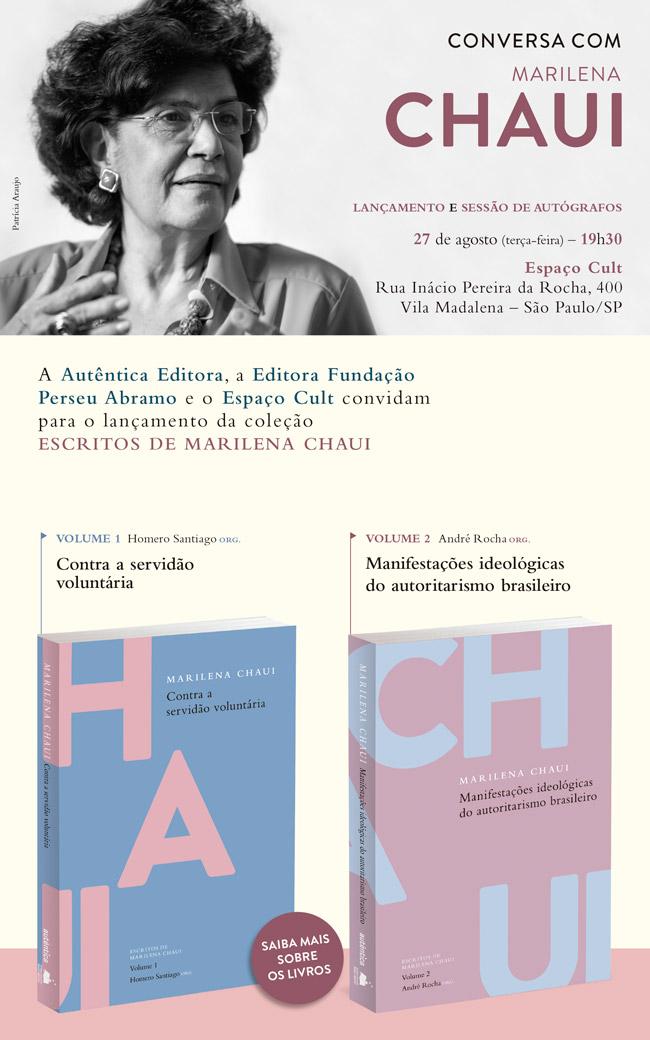 Lançamento da coleção Escritos de Marilena Chaui
