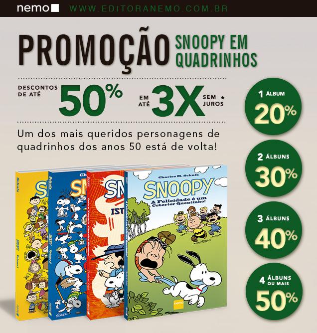 Promoção Snoopy em Quadrinhos