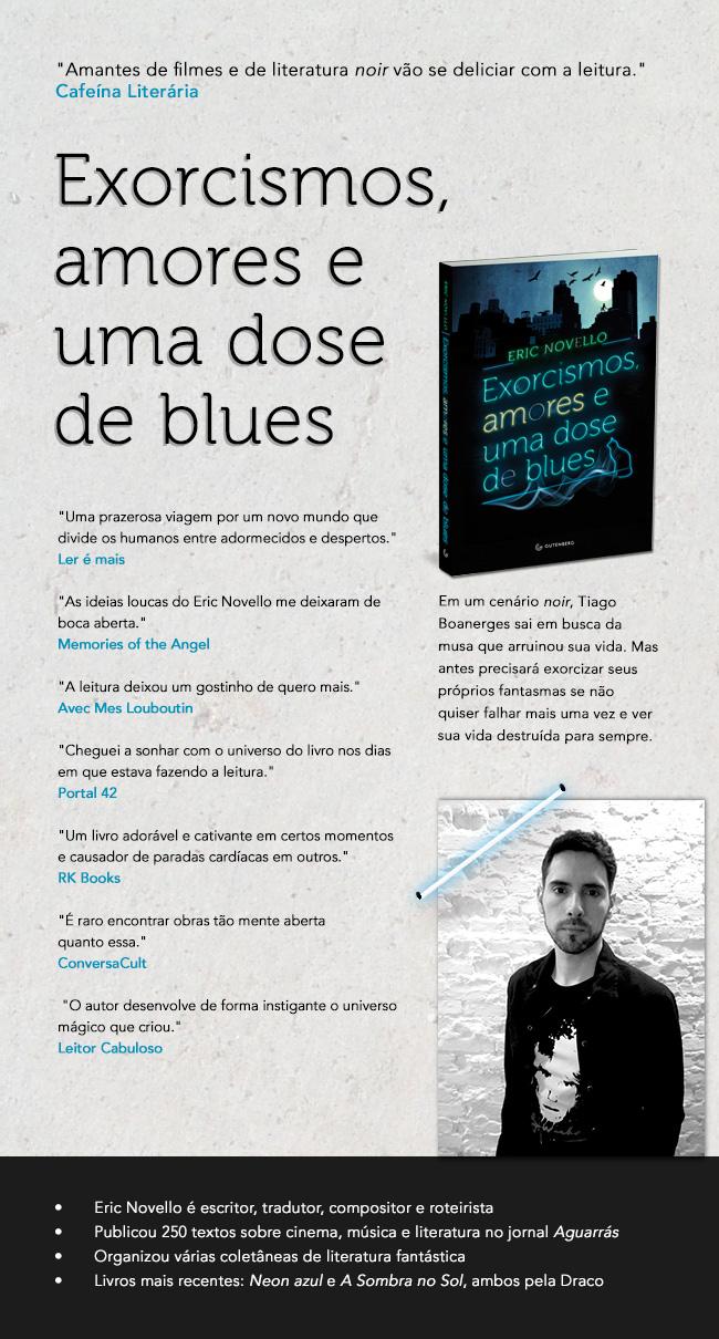 Folheto Exorcismos, amores e uma dose de blues
