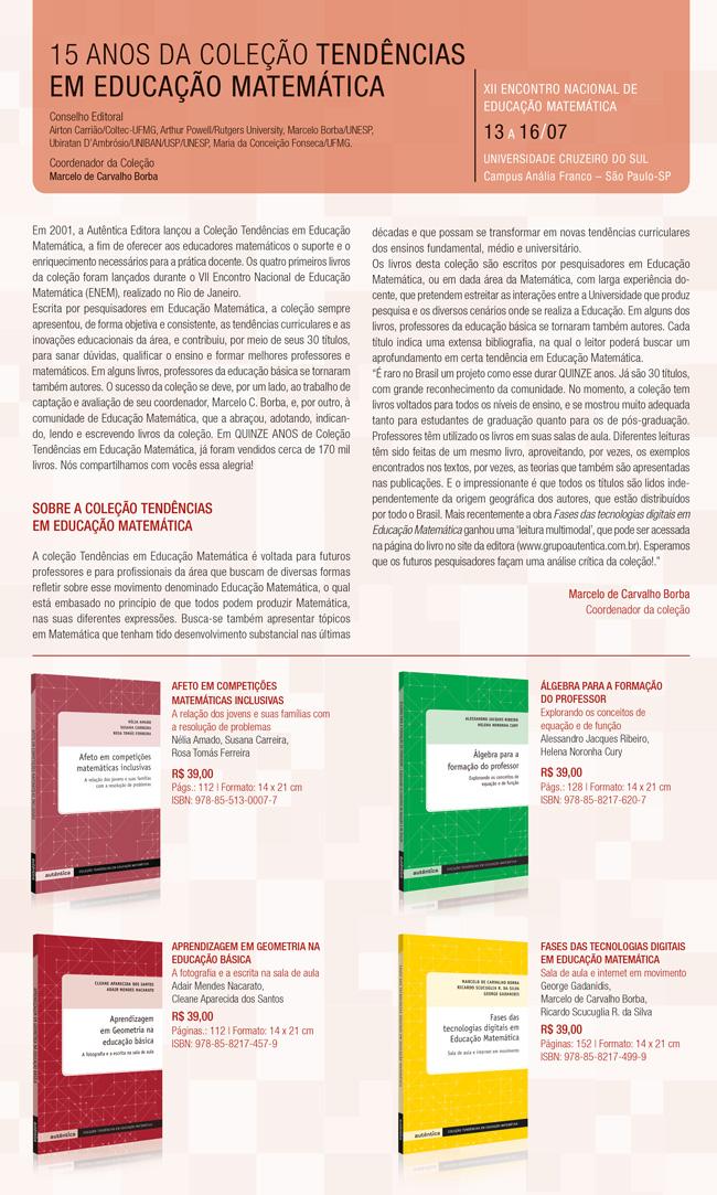 Folheto de matemática